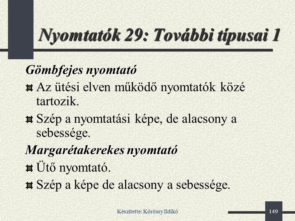 Nyomtatók 29: További típusai 1