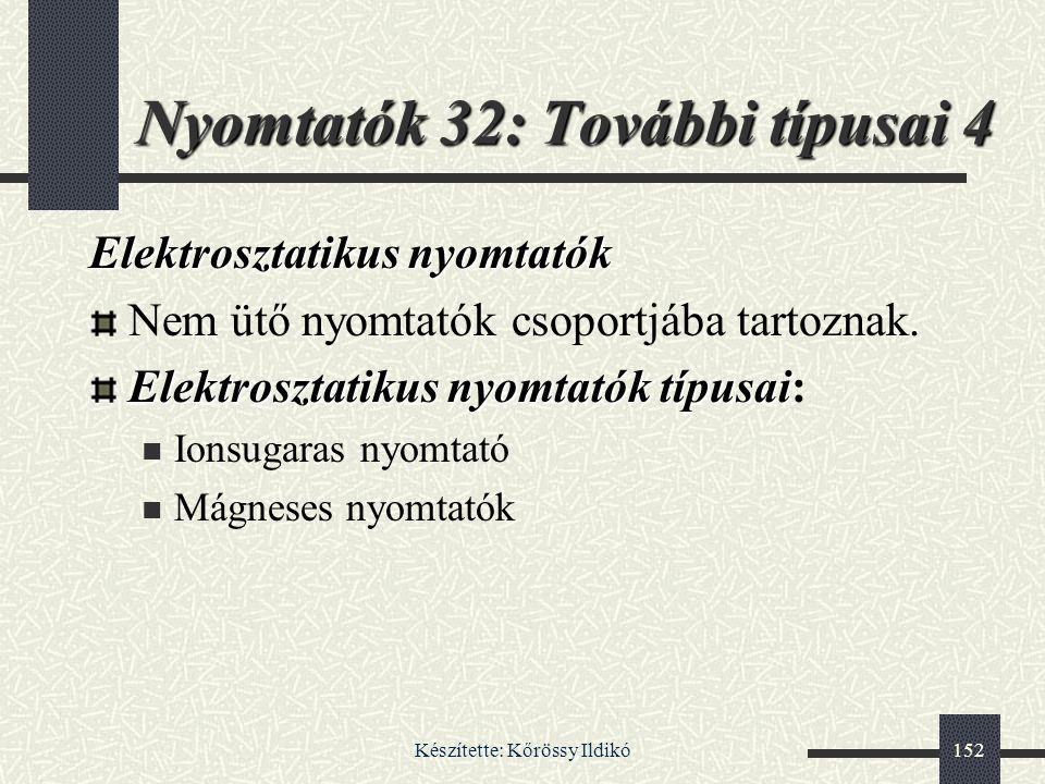 Nyomtatók 32: További típusai 4