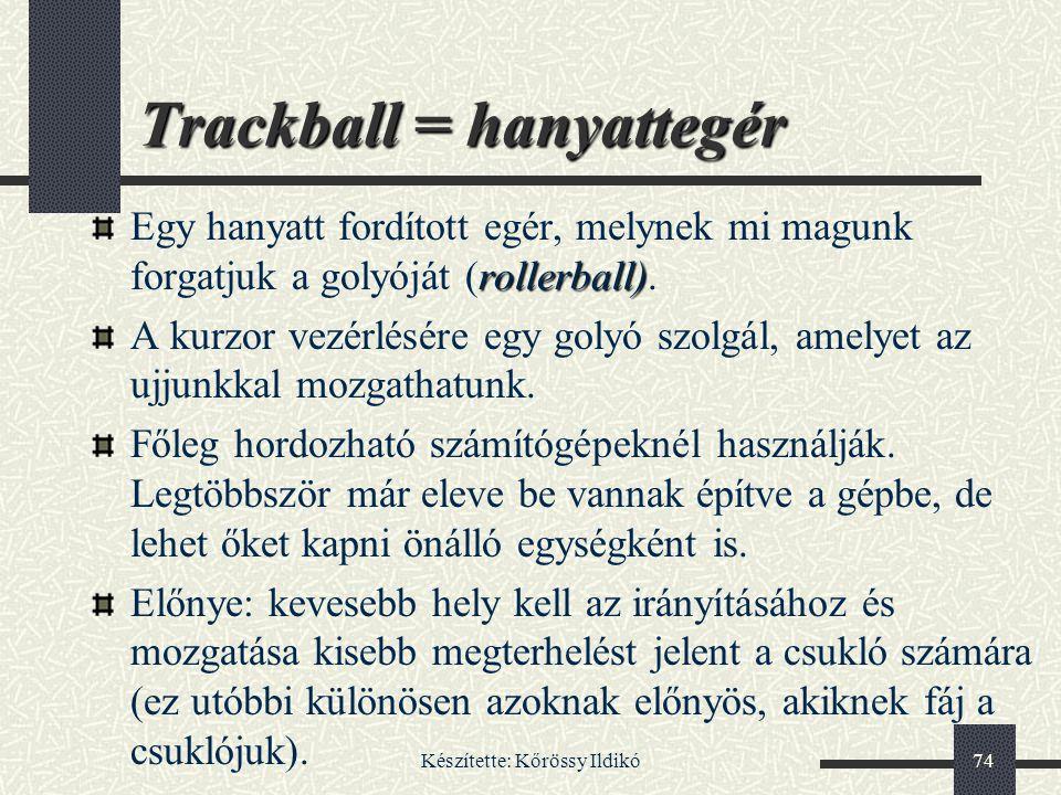 Trackball = hanyattegér