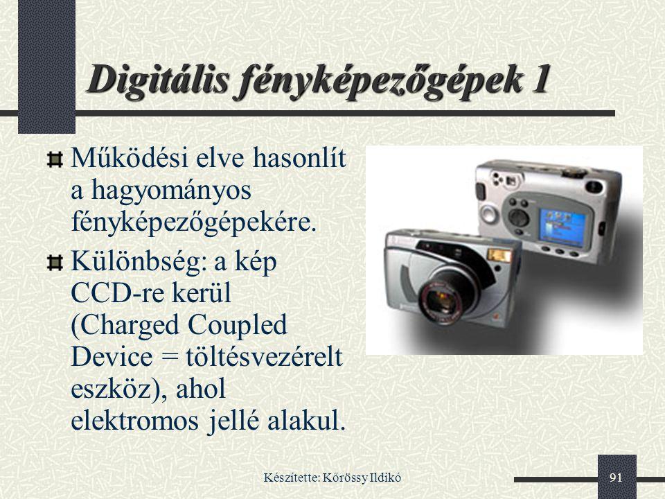 Digitális fényképezőgépek 1