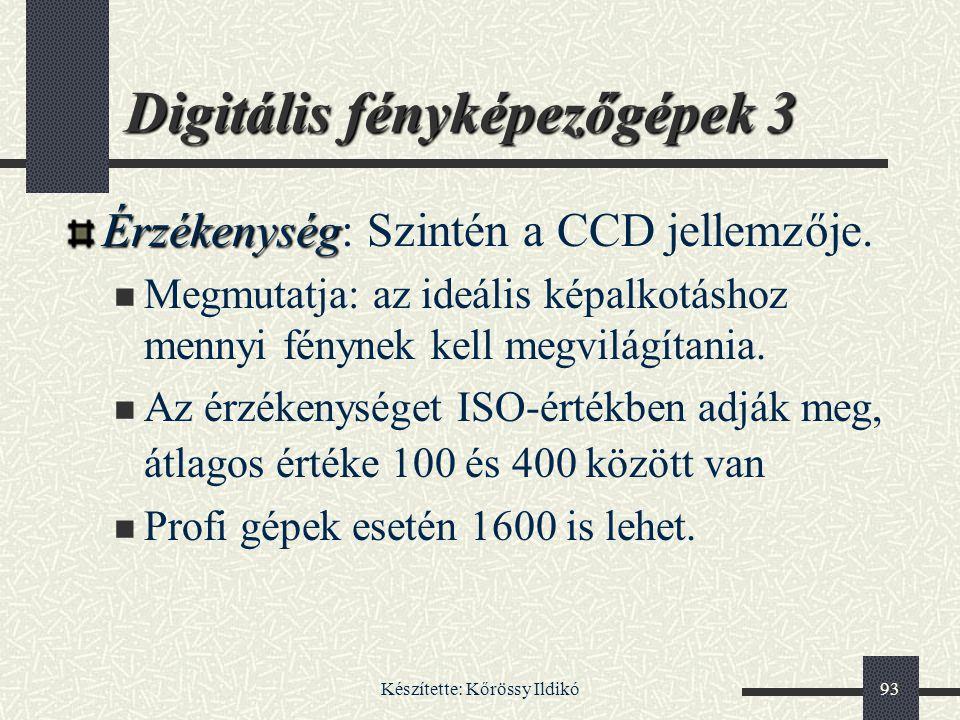 Digitális fényképezőgépek 3