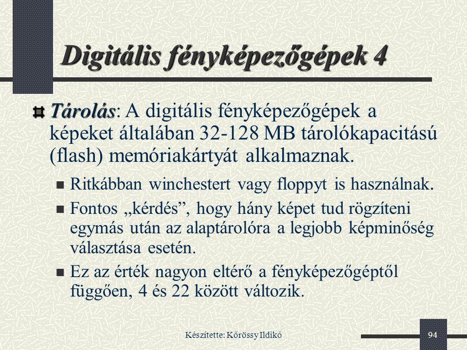 Digitális fényképezőgépek 4
