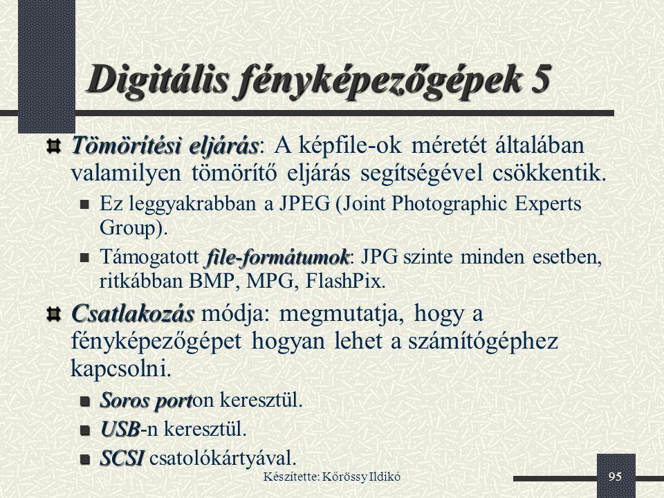 Digitális fényképezőgépek 5