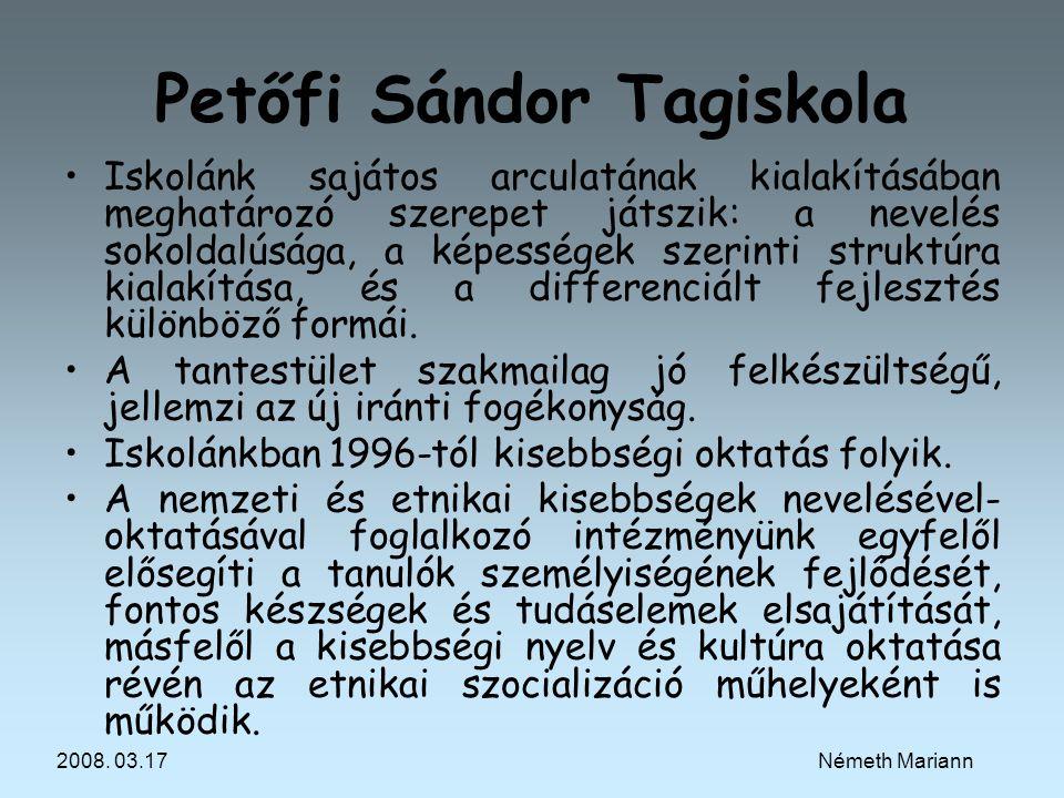 Petőfi Sándor Tagiskola