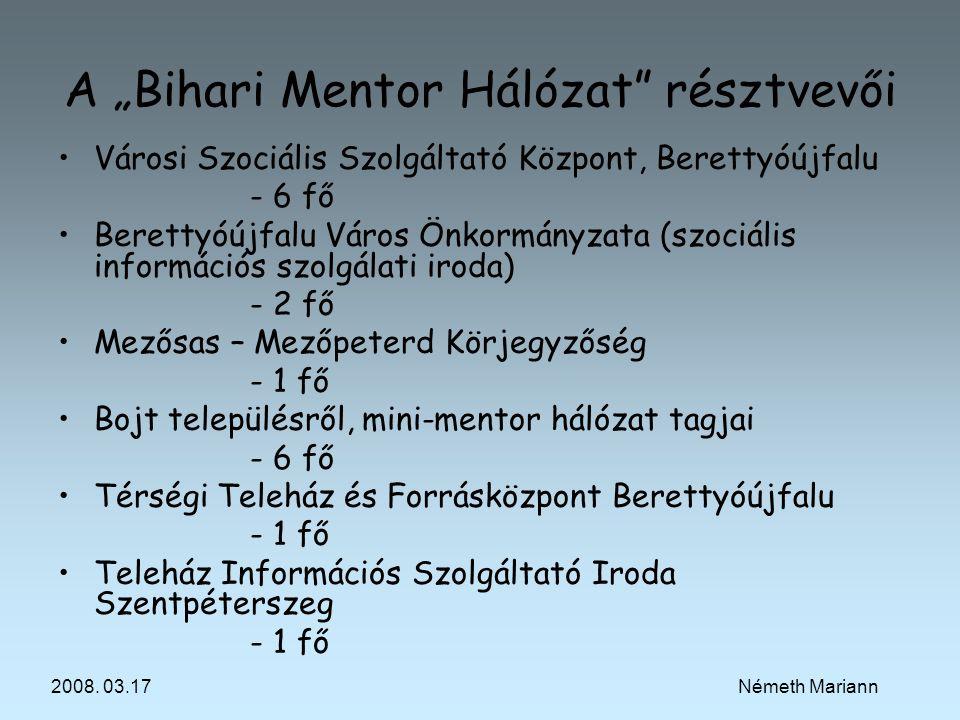 """A """"Bihari Mentor Hálózat résztvevői"""
