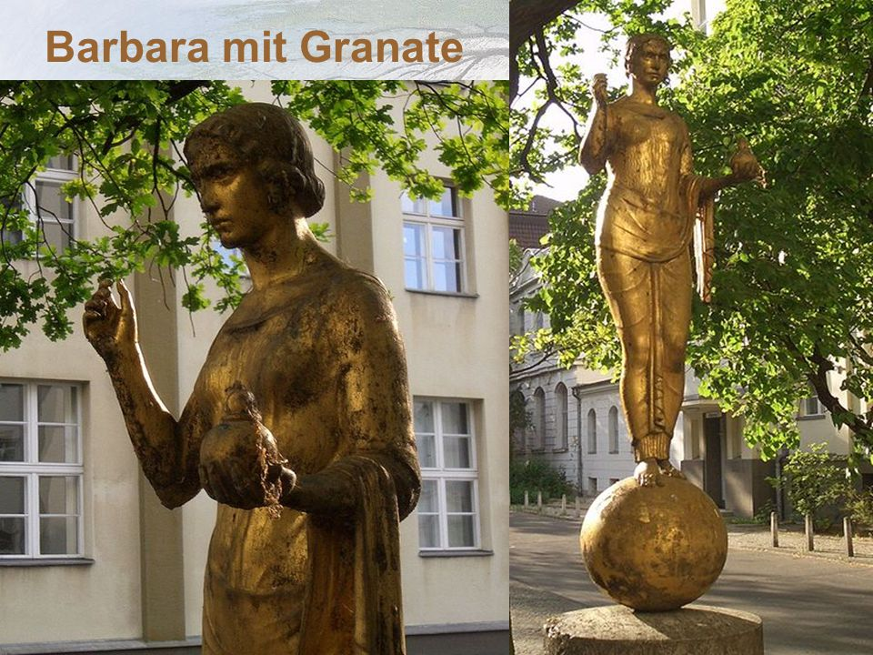 Barbara mit Granate