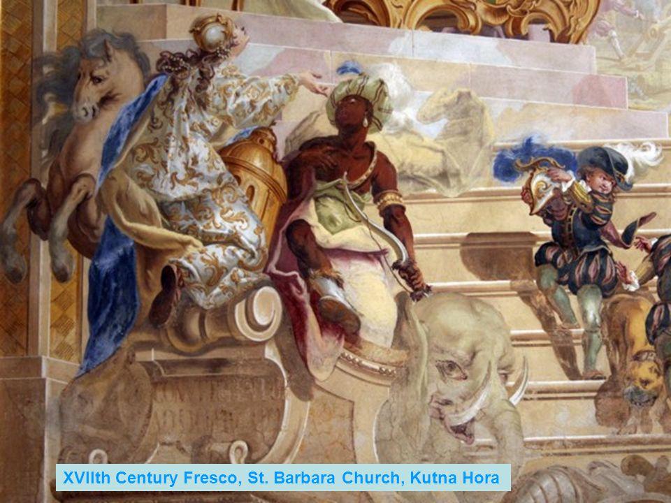 XVIIth Century Fresco, St. Barbara Church, Kutna Hora