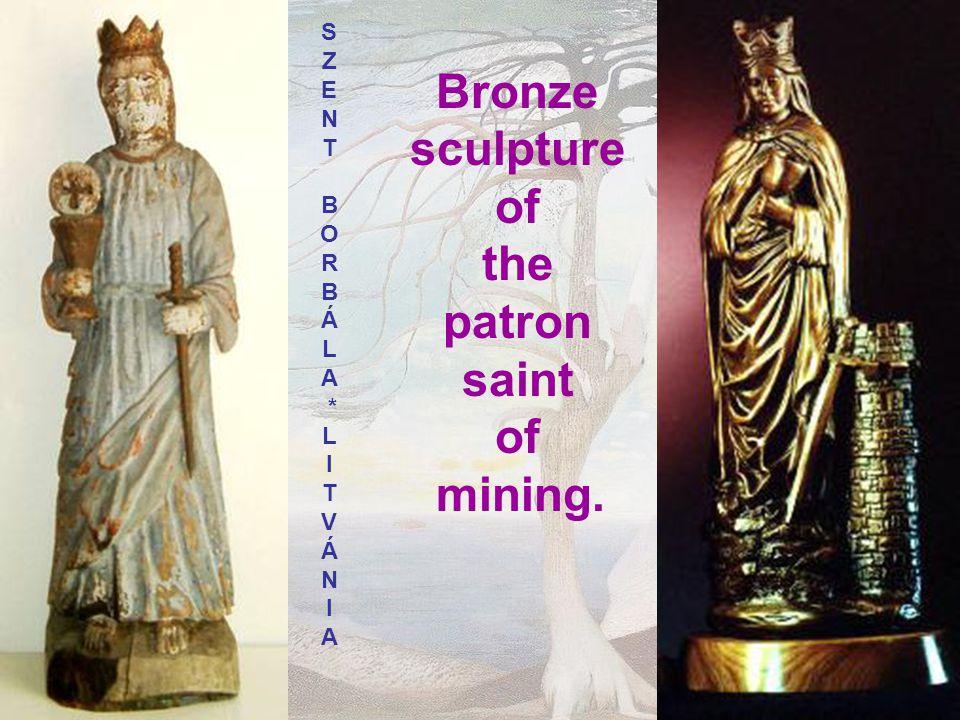 Bronze sculpture of the patron saint