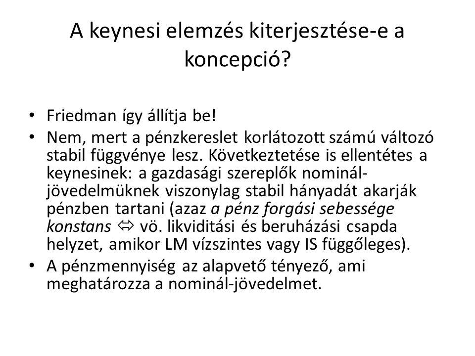 A keynesi elemzés kiterjesztése-e a koncepció