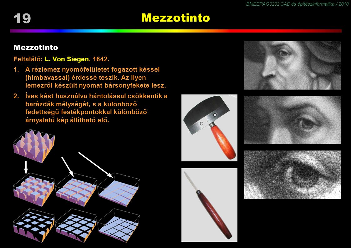 Mezzotinto Mezzotinto Feltaláló: L. Von Siegen, 1642.
