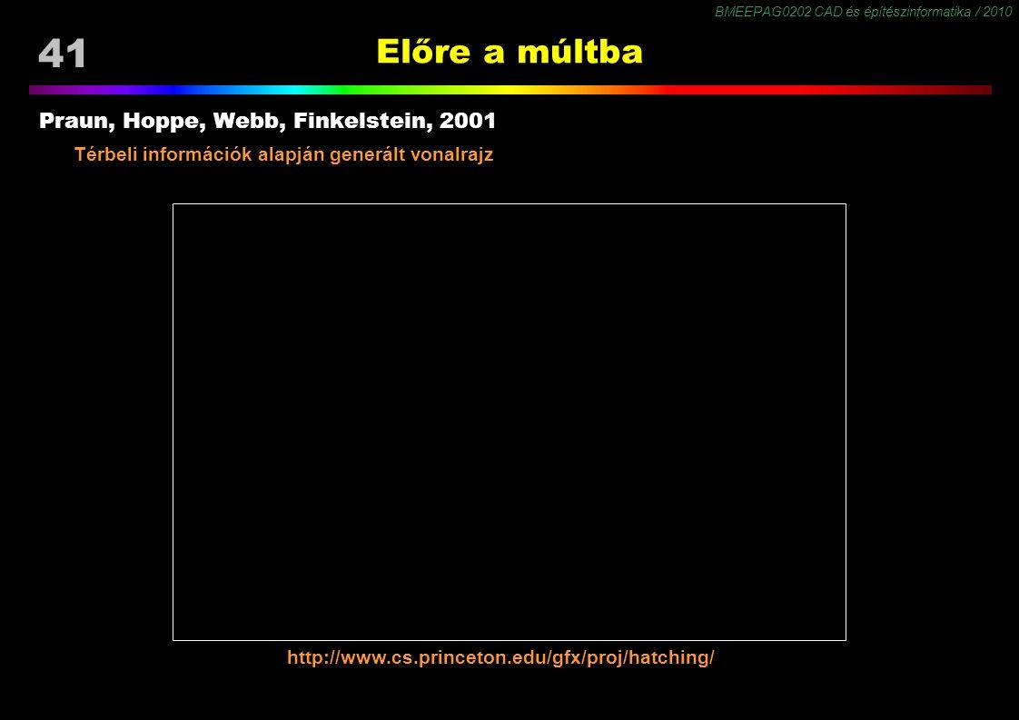 Előre a múltba Praun, Hoppe, Webb, Finkelstein, 2001