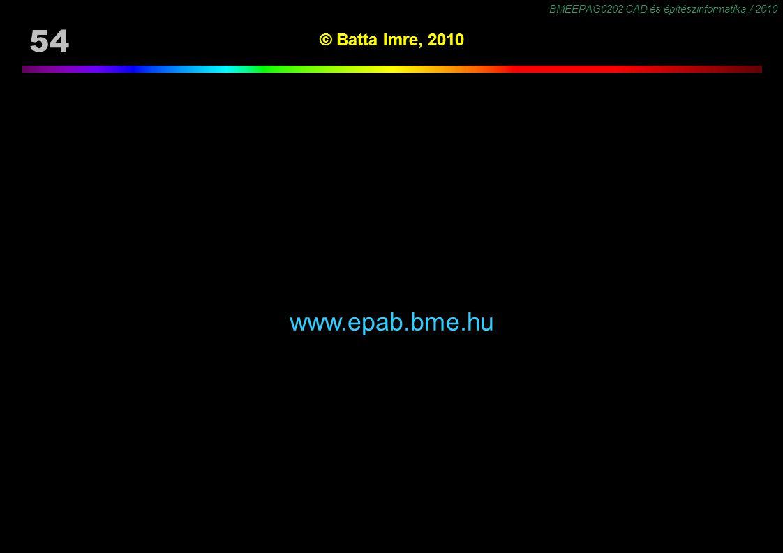 © Batta Imre, 2010 www.epab.bme.hu