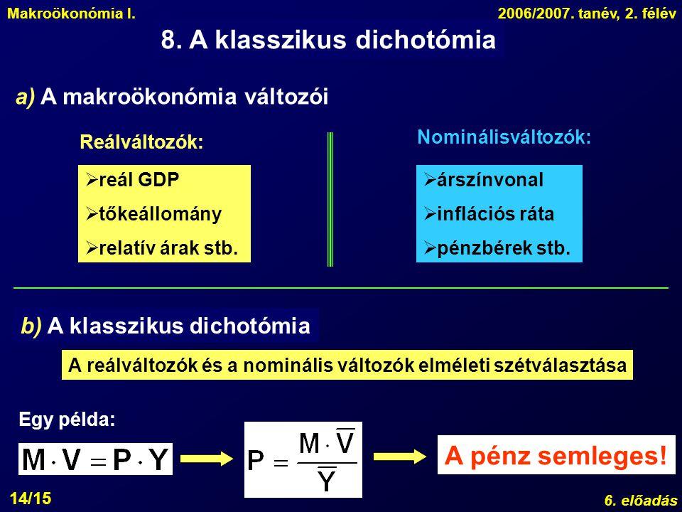 8. A klasszikus dichotómia