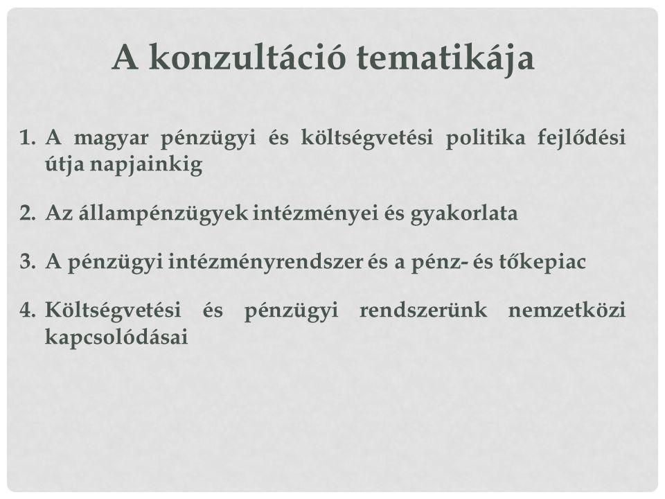 A konzultáció tematikája