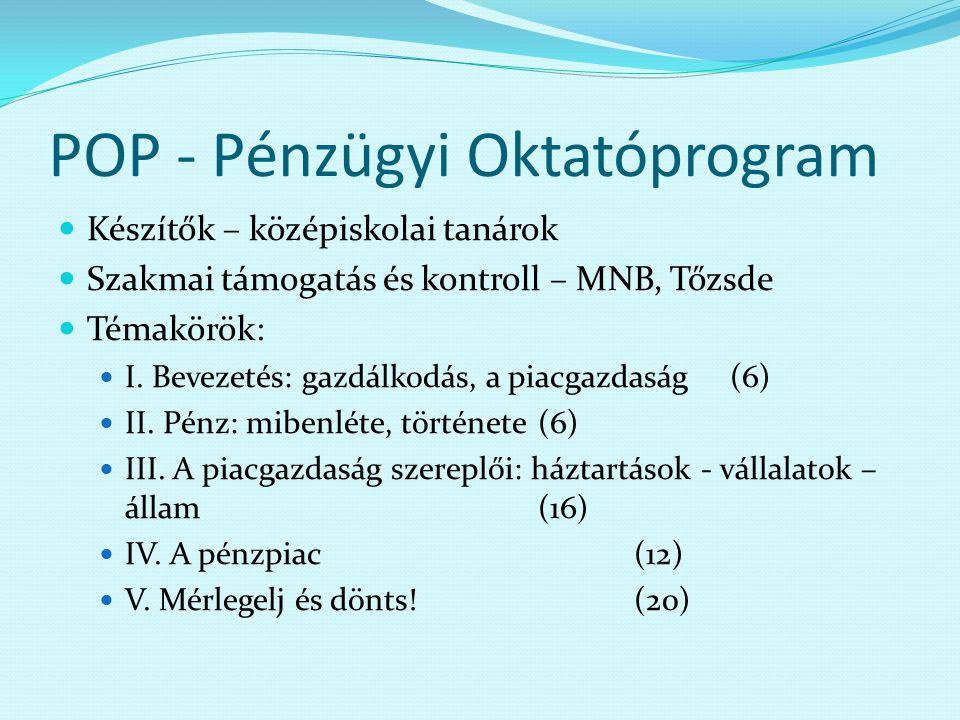 POP - Pénzügyi Oktatóprogram