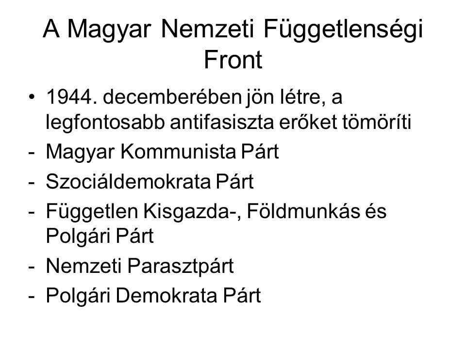 A Magyar Nemzeti Függetlenségi Front