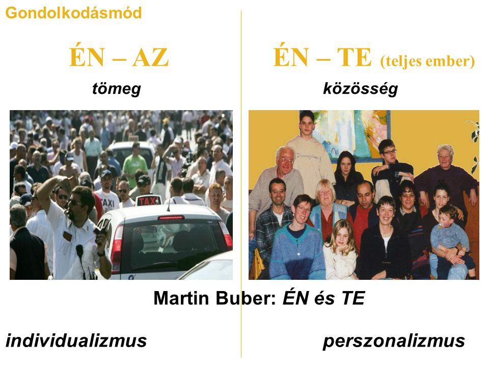 ÉN – AZ ÉN – TE (teljes ember) Martin Buber: ÉN és TE individualizmus