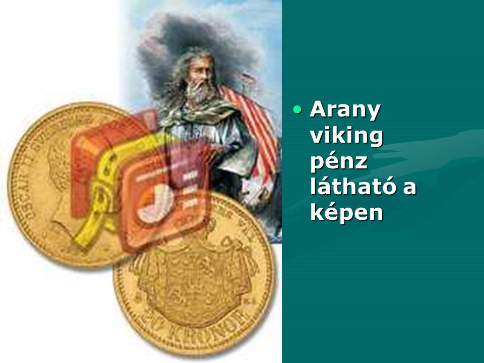 Arany viking pénz látható a képen