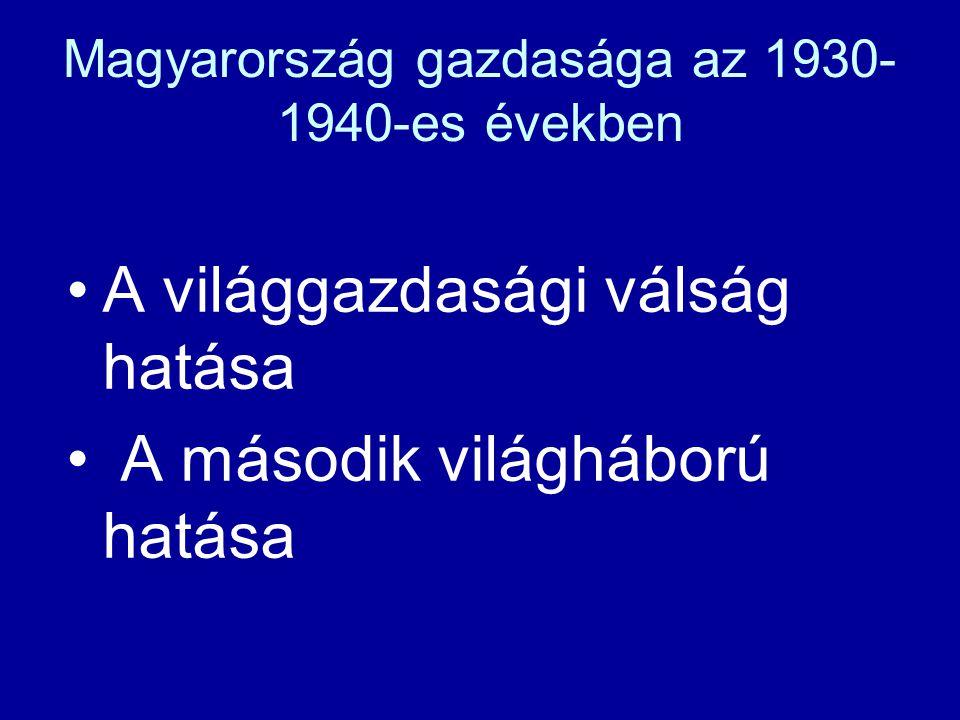 Magyarország gazdasága az 1930-1940-es években