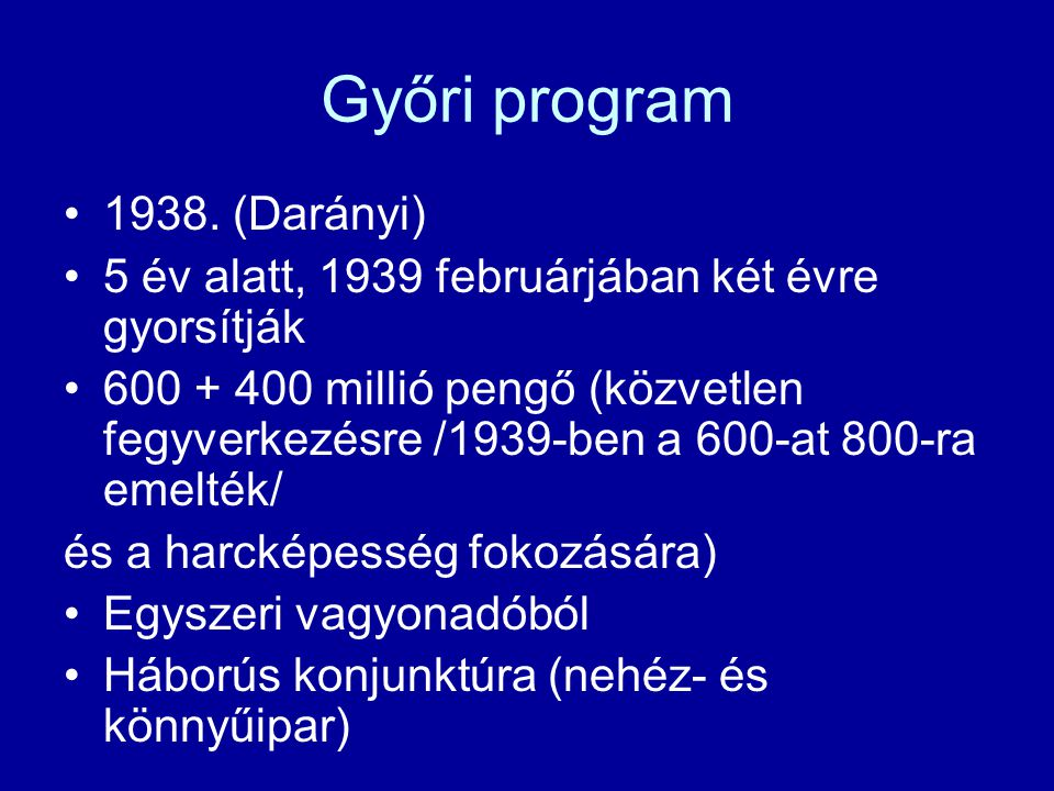 Győri program 1938. (Darányi)