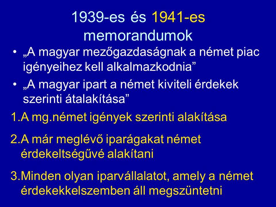 1939-es és 1941-es memorandumok