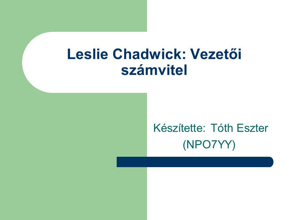 Leslie Chadwick: Vezetői számvitel