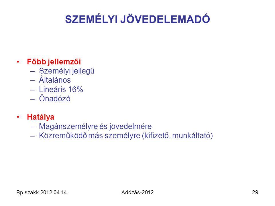 SZEMÉLYI JÖVEDELEMADÓ