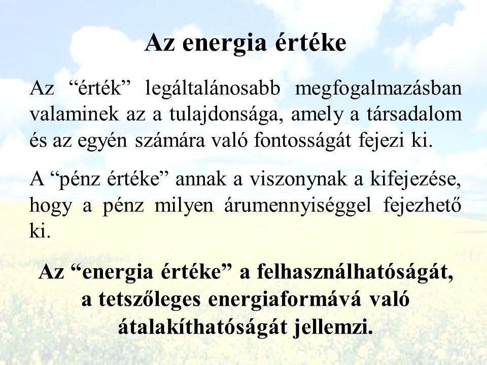 Az energia értéke