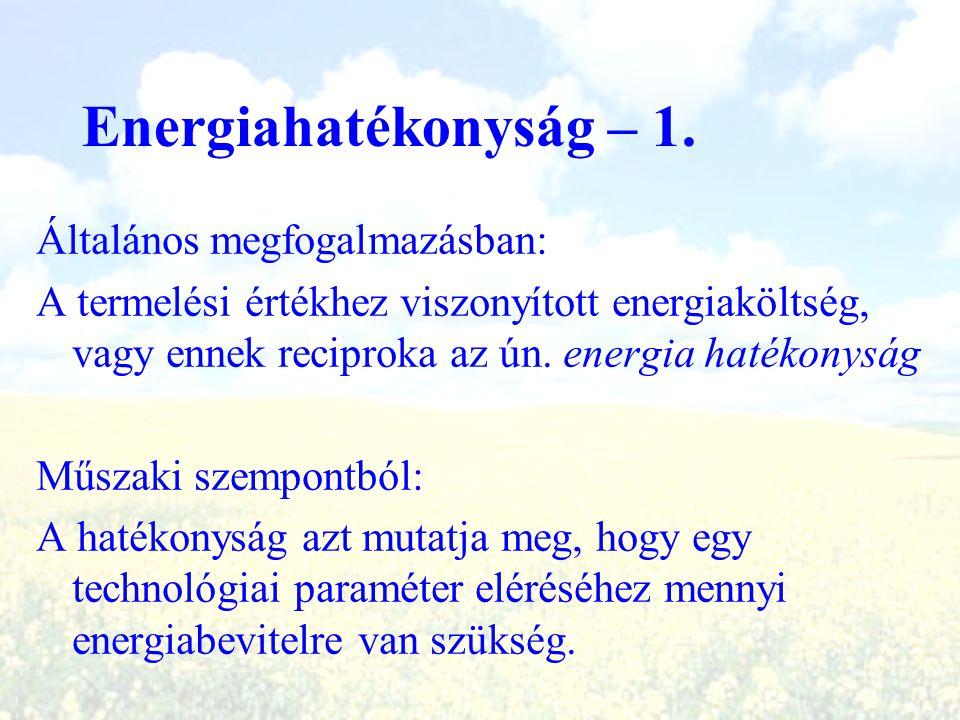 Energiahatékonyság – 1. Általános megfogalmazásban: