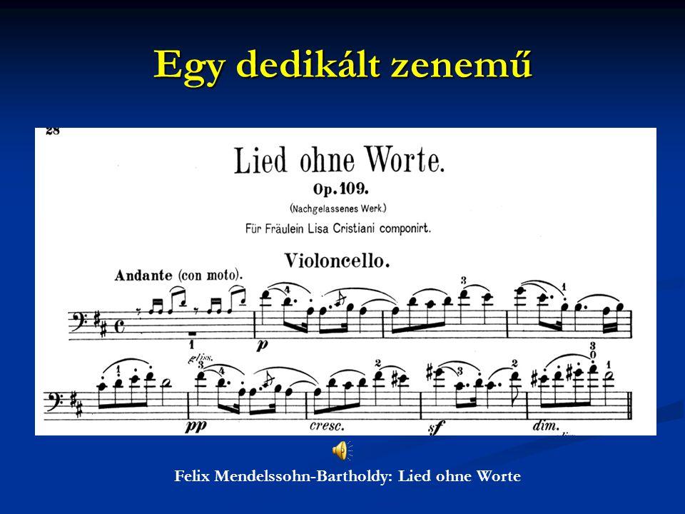 Felix Mendelssohn-Bartholdy: Lied ohne Worte