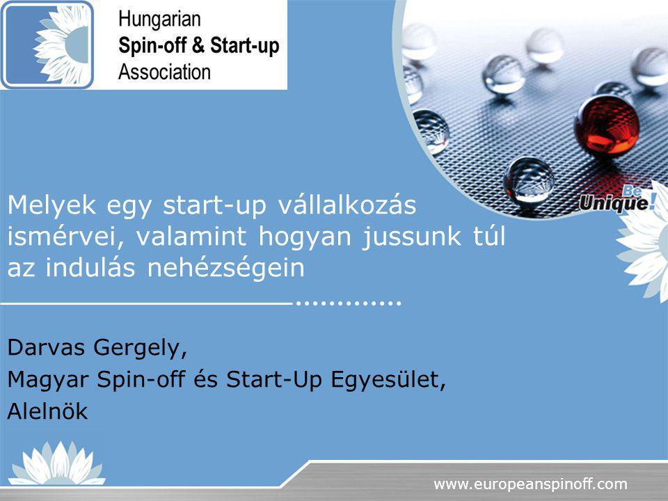 Darvas Gergely, Magyar Spin-off és Start-Up Egyesület, Alelnök