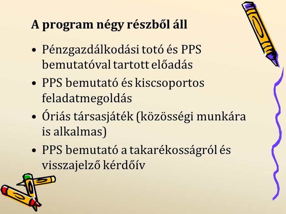 A program négy részből áll