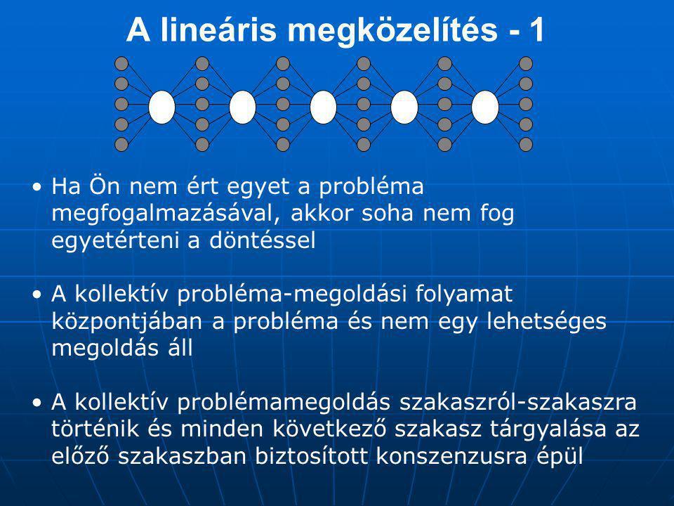 A lineáris megközelítés - 1