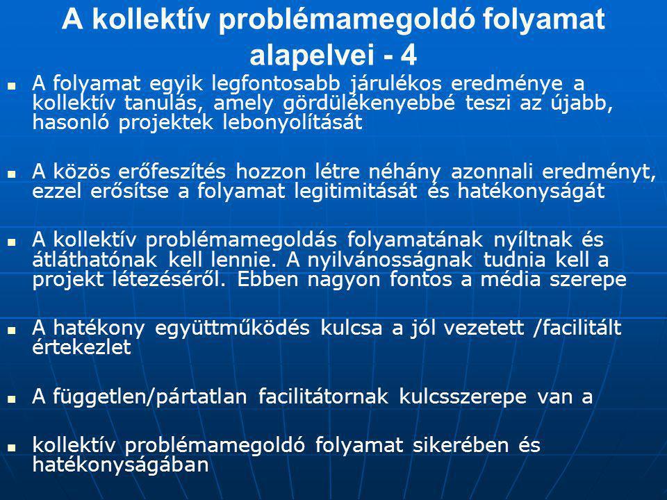 A kollektív problémamegoldó folyamat alapelvei - 4