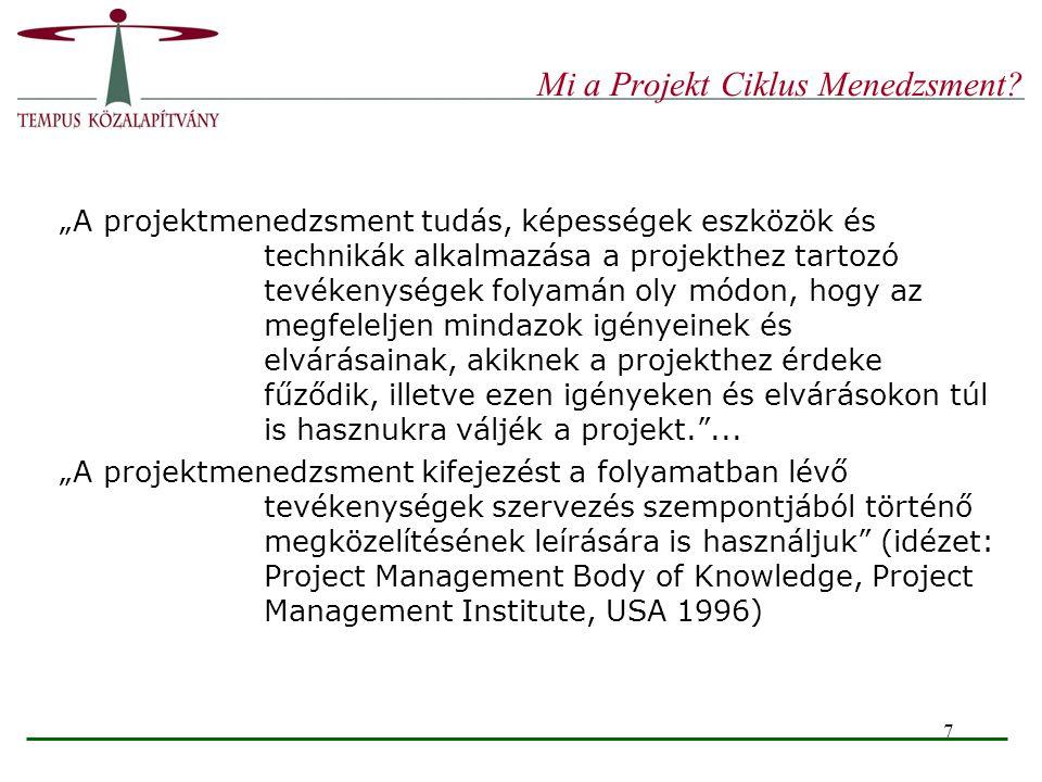 Mi a Projekt Ciklus Menedzsment