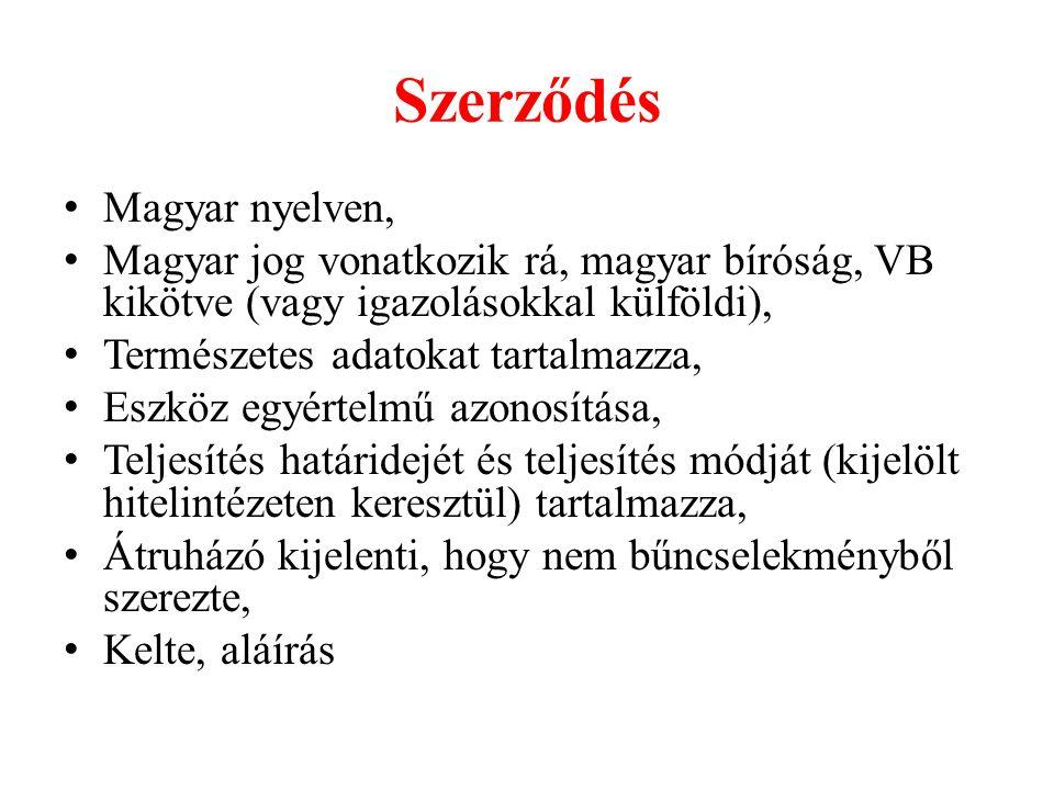 Szerződés Magyar nyelven,