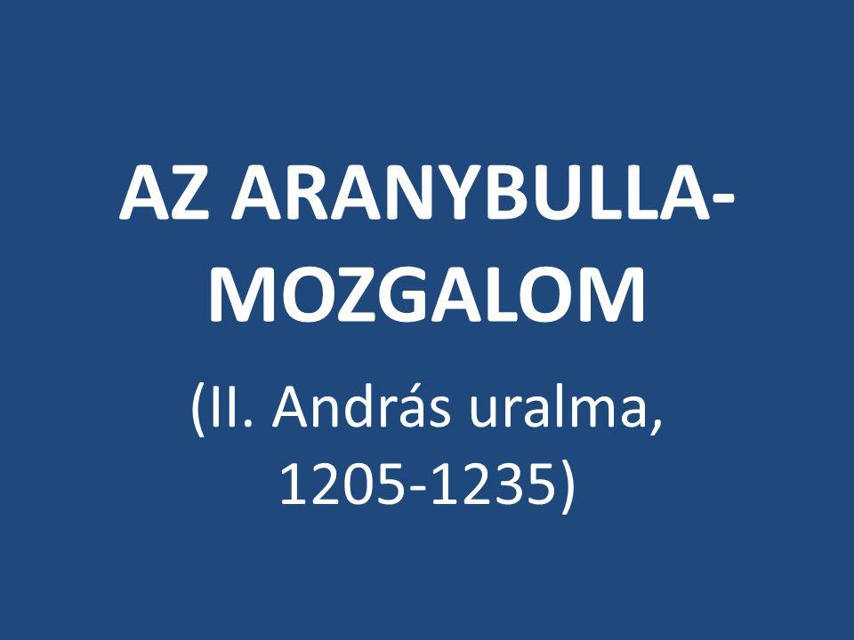 AZ ARANYBULLA-MOZGALOM
