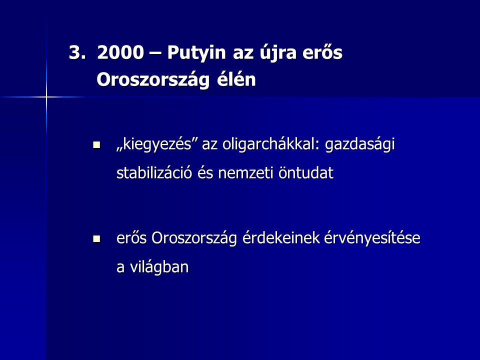 2000 – Putyin az újra erős Oroszország élén