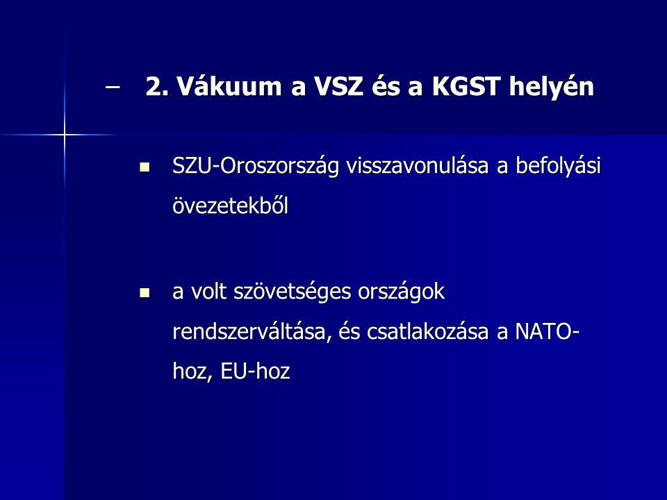 2. Vákuum a VSZ és a KGST helyén