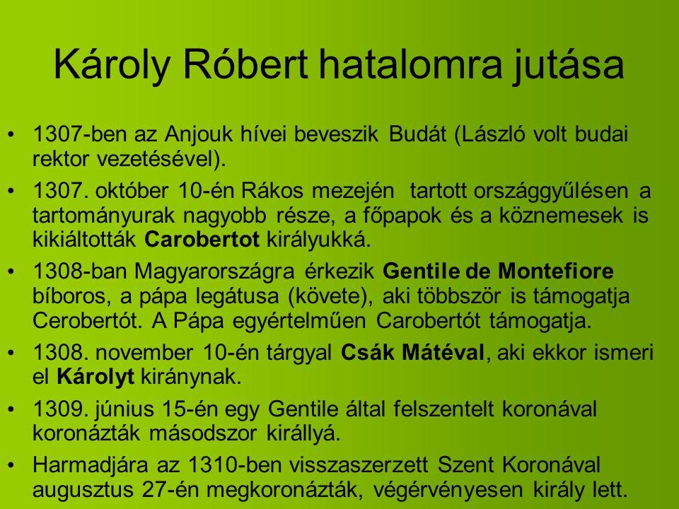 Károly Róbert hatalomra jutása