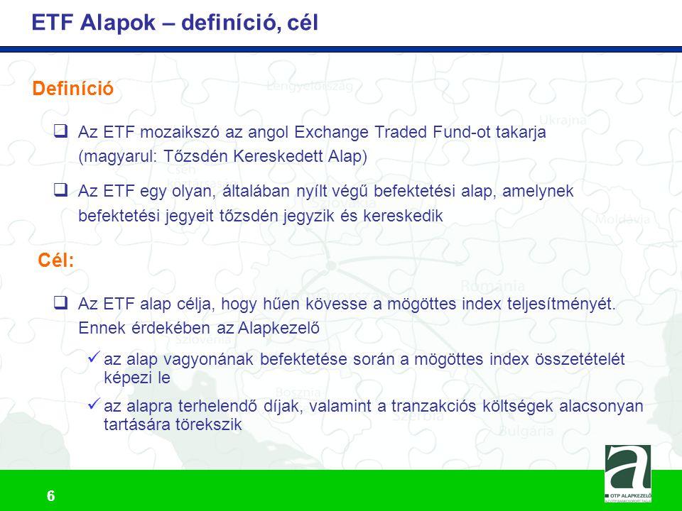 ETF Alapok – definíció, cél