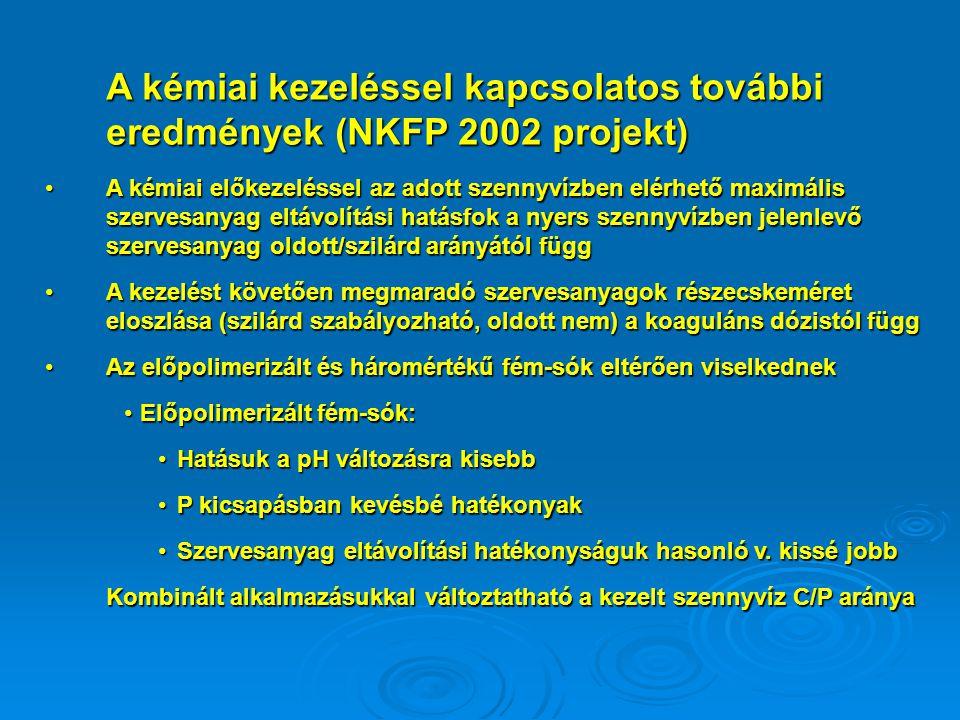 A kémiai kezeléssel kapcsolatos további eredmények (NKFP 2002 projekt)