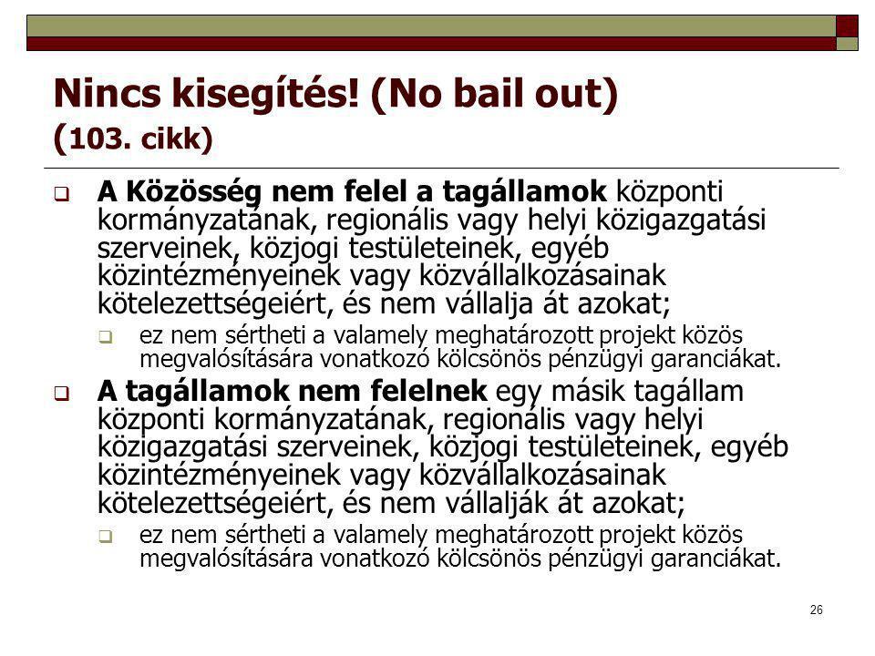 Nincs kisegítés! (No bail out) (103. cikk)