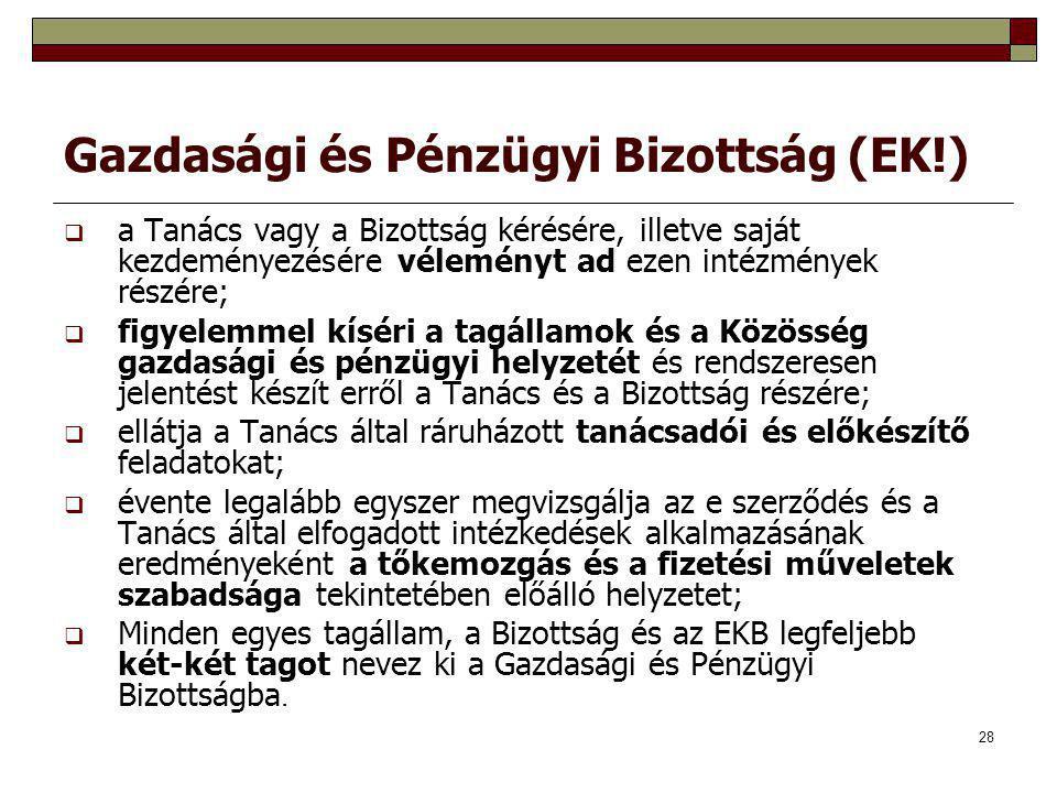 Gazdasági és Pénzügyi Bizottság (EK!)