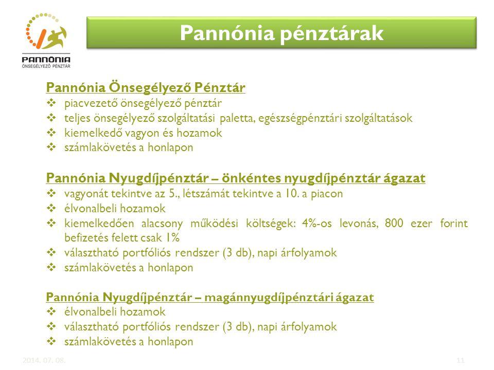 Pannónia pénztárak Pannónia Önsegélyező Pénztár