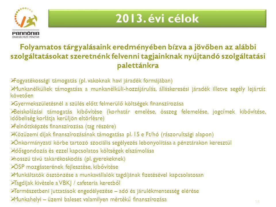 2013. évi célok