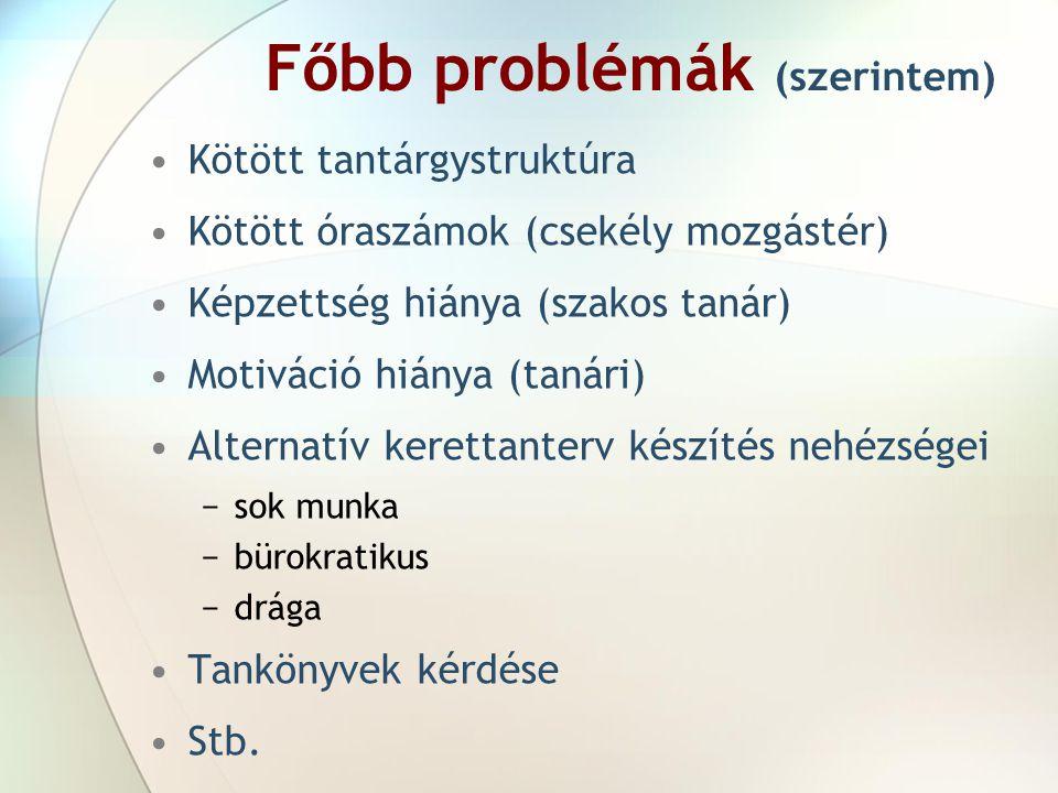 Főbb problémák (szerintem)