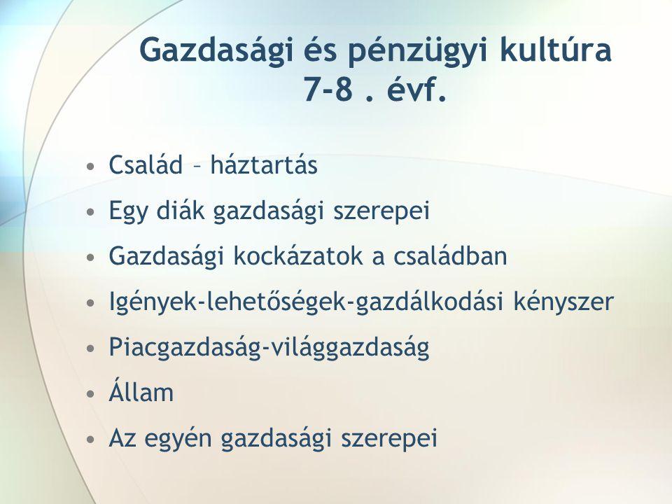 Gazdasági és pénzügyi kultúra 7-8 . évf.