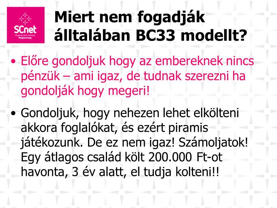 Miert nem fogadják álltalában BC33 modellt