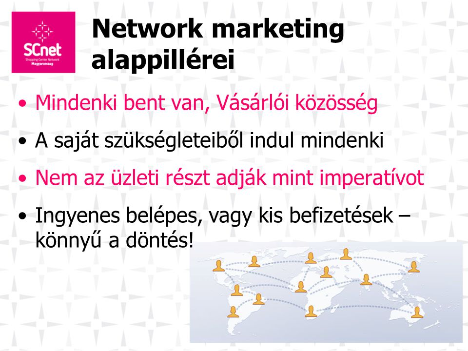 Network marketing alappillérei